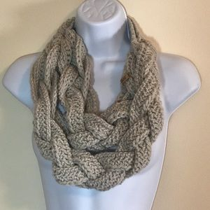 Handmade braided scarf OOAK
